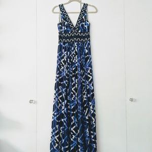 BCBG MAXAZRIA Geometric Gown
